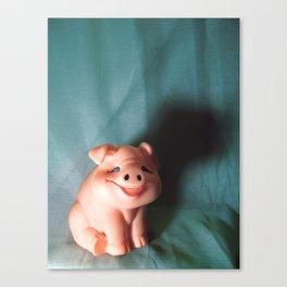 Refrigerator Pig Canvas Print