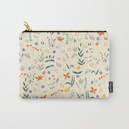 Retro Botanical Carry-All Pouch