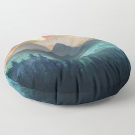 Wilderness Becomes Alive at Night Floor Pillow