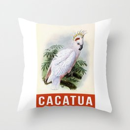 Cacatua Parrot Throw Pillow