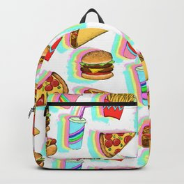 Rainbow Fast Food Backpack