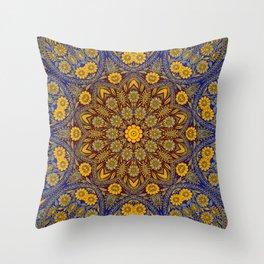 Vintage Morrocan Tile Throw Pillow