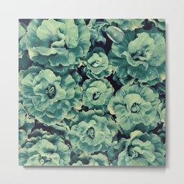 Floating Flowers Metal Print