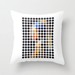 Girl with a Pearl Earring remixed (2009) Throw Pillow