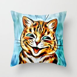 "Louis Wain's Cats ""Winking Cats"" Throw Pillow"