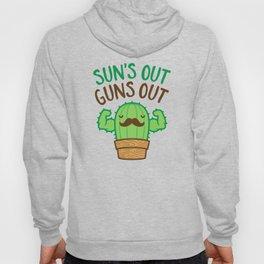Sun's Out Guns Out Macho Cactus Hoody