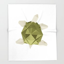 Origami Turtle Throw Blanket