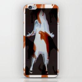 Orange dancer iPhone Skin