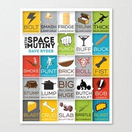 MST3K Space Mutiny - Dave Ryder Names - Art Print Wall Decor Typography Inspirational Poster Motivat Canvas Print