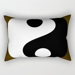 Yin and Yang - Brown Rectangular Pillow