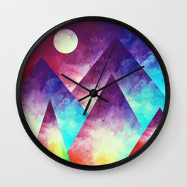 Rainbow Mountain Wall Clock