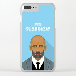 Pep Guardiola Manchester City F.C. Manager Clear iPhone Case