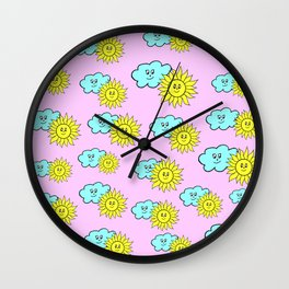 Cute baby design in pink Wall Clock