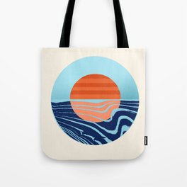 Sweetness - retro minimal 70s style throwback sunset sunrise ocean socal art Tote Bag