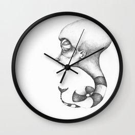 Worm sapien Wall Clock