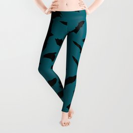 Bats quetzal green Leggings