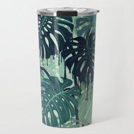 Monstera Melt (in Green) Travel Mug