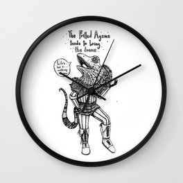 F is for Frilled Agama Wall Clock
