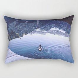 Duck on the Water Rectangular Pillow
