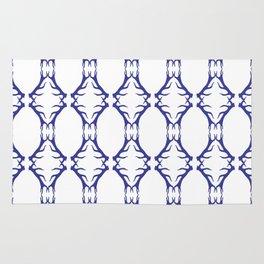 Modern Antler:  Blue Rug