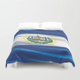 El Salvador Fancy Flag Duvet Cover