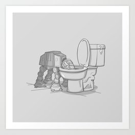 Bad, bad Walker Art Print
