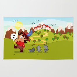 The Pied Piper of Hamelin  Rug