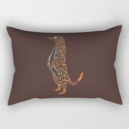 Abstract Meerkat Rectangular Pillow