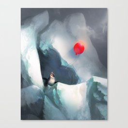 Heart Penguin Canvas Print