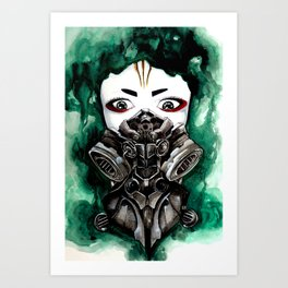 Cyberpunk Kyoshi Warrior Art Print