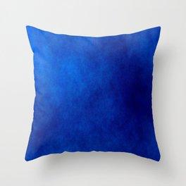 Misty Deep Blue Throw Pillow