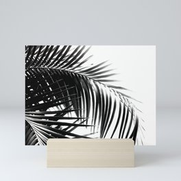 Palm Leaves Black & White Vibes #3 #tropical #decor #art #society6 Mini Art Print