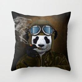 PANDA PILOT Throw Pillow
