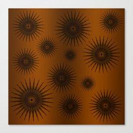 Caramel & Chocolate Star Bursts Canvas Print