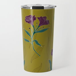 Linear Lily - Mustard Travel Mug