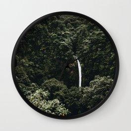 Waterfall / Costa Rica Wall Clock