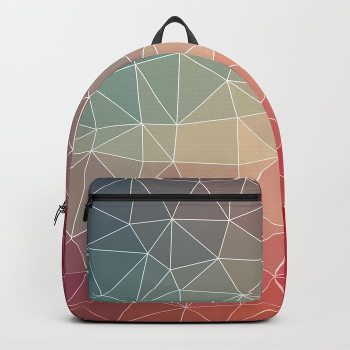 Abstract Geometric Triangulated Design Backpack