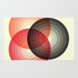 Three colour circles, inspired by Lacouture's Répertoire chromatique Rug