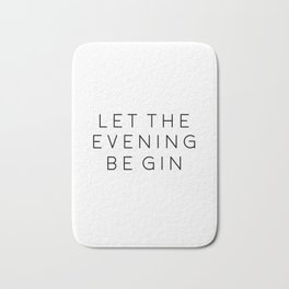 HOME BAR DECOR, Let The Evening Be Gin,Funny Bar Decor,Alcohol Sign,Drink Sign,Bar Wall Art,Gin And Bath Mat