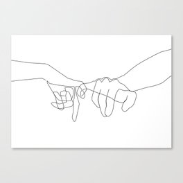 Pinky Swear Canvas Print