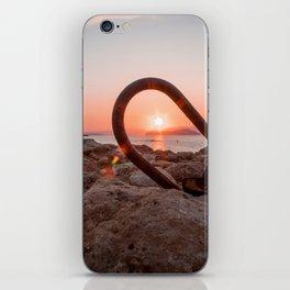 Crete Sunset iPhone Skin