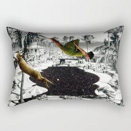 Piscine en Laine Rectangular Pillow