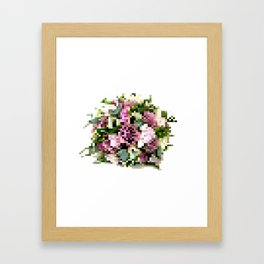 8 Bit Bouquets- Purple Framed Art Print