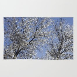 Sparkling Iced Branches Rug