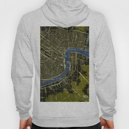06-New Orleans Louisiana 1932, old colorful map Hoody