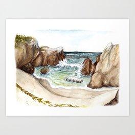 Hidden Beach Art Print