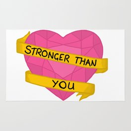 Stronger than you crystal heart Rug