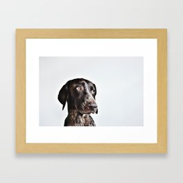 Gus a portrait Framed Art Print
