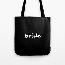 Bride Black & White Tote Bag