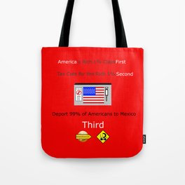 America FIrst Tote Bag